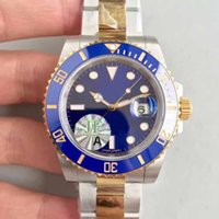 Wholesale Best Sport Watches Men Waterproof - Men Best selling Top Noob Factory V7 Version Eta 3135 Sapphire Crystal Waterproof Sport Dive Men's Automatic Movement Two Tone Gold Watches