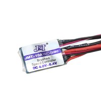 Wholesale Esc Brush Rc - F17782 3 JMT High Quality RC Car 10A Brushed ESC Two Way Motor Speed Controller No With Brake for 1 16 1 18 1 24 Car Boat Tank