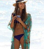 Wholesale Ladies Wearing Sexy Swimsuit - Women Fashion Beach Ladies Sexy Swimsuit Bathing Suit Cover Ups Kaftan Kimono Beach Wear