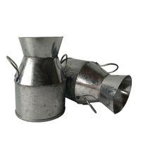 Wholesale Vintage Tin Cans - Vintage Nostalgia Mini Garden Silver Watering Can  Milk Tin Bucket  Flowers Keg Favor Box Kit  Wedding favor  Tin Box