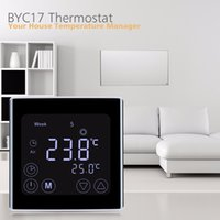 Wholesale Underfloor Heating Temperature - Floureon BYC17GH3 LCD Touch Screen Room Underfloor Heating Thermostat Weekly Programmable Thermoregulator Temperature Controller