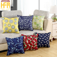 Wholesale Wholesale Pillow Case For Sale - 45*45Cm Hot Sale Cushion Case Linen Pillow Cover Cushion Cover Fruit Flower Tree Patterns Pillowcase For Home Living Room Decoration Gifts