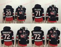 Wholesale Hockey Sweaters - Columbus Blue Jackets Hockey Hoodie #20 Brandon Saad #72 Sergei Bobrovsky 71 Nick Foligno Stitched Top Quality Hoodie Sweater Hockey Jerseys