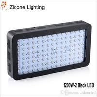 schwarzlichtspektrum großhandel-1200W-2 Black Double Chips LED Wachsen Licht Vollspektrum 410-730nm Für Zimmerpflanzen und Flower Phrase Sehr hohe Ausbeute