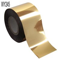 Wholesale Gold Nail Tape - ail art stripping tape 120m*4cm Gold Silver 3 Colors Fashion Transfer Foil Nail Art Stickers Decorations Universe Decals Nails Tools Hara...