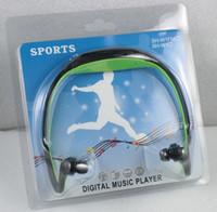iphone wma großhandel-2017 neue Sport MP3 Player Wireless Headset Kopfhörer Musik Player Nackenbügel Headset Unterstützung Micro SD / TF Karte + FM Radio