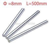 Wholesale 8mm Linear Shaft - Wholesale- 2pcs 8mm 8x500 linear shaft 3d printer 8mm x 500mm Cylinder Liner Rail Linear Shaft axis cnc parts