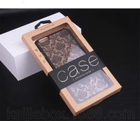 Wholesale Phone Box Sticker - Universal Cell Phone Case Package Blister Kraft Paper Box for iphone   Samsung Case Retail Package Box with Hanger + Sticker