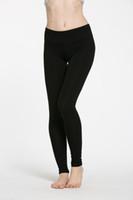 corriendo pantalones de spandex al por mayor-2017 moda mujeres sexy trajes de yoga leggings elásticos pantalones spandex espesar material ropa corriendo Dropshipping ok