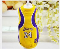 ropa de cachorro xs al por mayor-2017 Summer Dog Vest Baloncesto Jersey Cool transpirable Pet Cat Clothes Puppy Ropa deportiva al aire libre Moda Cotton Dog Shirt XS-6XL