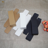 Wholesale Wholesale Handmade Papers - 100pcs lot 4x4x10.3cm White black kraft Paper Box DIY Lipstick Perfume Essential Oil Bottle packaging boxes valve tube package