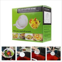 Wholesale Salads Machine - 60 second salad knife bowl easy Salad Fruit vegetable cleaning machine and knife quick salad maker + FREE SHIPPING