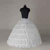 Wholesale Hoop Skirts For Cheap - Super Cheap Ball Gown 6 Hoops Petticoat Wedding Slip Crinoline Bridal Underskirt Layers Slips Skirts For Quinceanera Wedding Dress CPA2016