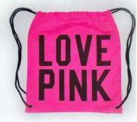 Wholesale Types Girl Backpacks - vs love pink men bag backpack 3D printing travel softback Women mochila drawstring tote Girls harajuku cotton Backpacks