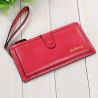 Vente en gros- Baellerry Brand Femmes Long PU Leather Wallet Dollar Prix Carteira Embrayage Coin Purse Female Wristlet Hand Bag Card Holder