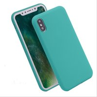 Wholesale Green Ground Cover - For iphone x case Ultrathin jelly Candy solid color Matting cases Dull polish grinding TPU Cover for iphone 5 5S SE 6S 7 plus iphone 8 2017