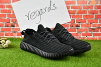 Wholesale Classic Golf Shoes - 2017 Wholesale Online Discount Online Y Boosts 350 Kanye West Y 350 Classic Black Men Tan Trainers Shoes Perfect With Box
