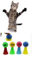 Wholesale Jump Bounce - Free shipping Jumping cat toys pet products nylon net products for cats kitty cat toys bouncing toys for cat 20pcs lot
