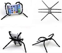 iphone holder örümcek toptan satış-Evrensel Esnek Örümcek Cep Telefonu Tutucu İşlevli Tembel dirsek örümcek Standı Ayarlanabilir Büküm Dağı iphone 7 Samsung S7 HTC LG