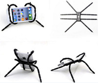 Wholesale flexible spider online – Universal Flexible Spider Mobile Phone Holder Multifunction Lazy bracket Spider Stand Adjustable Twist Mount For iphone Samsung S7 HTC LG