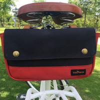 Wholesale Cycling Bag Rack - Tourbon Bike Pannier Handlebar Bag Cycling Saddle Pouch Basket Case Vintage Rack