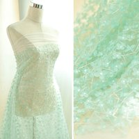 Wholesale three dimensional fabric flowers resale online - 3D White Three dimensional five petal flower fabric embroidery lace wedding dress materials children s clothing decoration L009