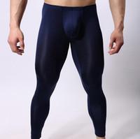 ingrosso collant maglia uomo-Sleep Bottoms uomo sexy Sheer Long Pants Gay Tights Leggings Trasparente Lounge see through mesh Lounge Lace Pants fashion