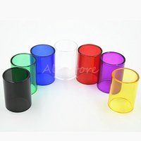 Wholesale Cap Sleeve Accessories - TFV8 Big BABY Glass Tube Pyrex Replacement Colorful Replacable Caps Sleeve Tube for 5ML SMOK TFV8 Big BABY RBA Tank Atomizers Accessories