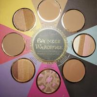 ingrosso palette arrossite-Hot 2 Face New IL PICCOLO LIBRO NERO DI BRONZERS Palette Bronzer Wardrobe Blush Cheek Highlighter Cosmestics Palette