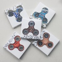 Wholesale Triangular Boxes - 2017 Camo Fidget Spinner toy Hand triangular spinner Toy For Decompression Anxiety Toys with retailed box S011