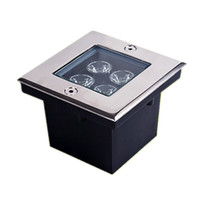 Wholesale led floors - 4*1W Squared Underground Lamp LED Buried Light WW NW CW AC85-265V Floor Outdoor Garden Plaza Lighting Stainless Steel