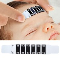 Wholesale Baby Forehead Strip Thermometer - Wholesale-New High Quality 5pcs Forehead Head Strip Thermometer Fever Body Baby Child Kid Test Temperature Termometro Hot Selling