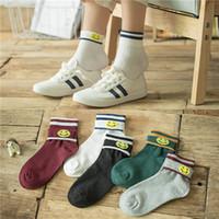 Wholesale Student Swimming - Winter and new female socks, students sports socks, two bars, socks, smiles, cuffs, women socks