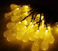 Wholesale Waterproof Solar Lanterns - 6m Solar lamp string 30LED drop lamp lights Christmas festival decorative lantern led waterproof lamp string
