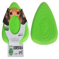 teddybär hundespielzeug großhandel-Floating In Wasser Gute Qualität EVA Hundetraining Fetch Toy Triangle Licht Frisbee Flying Disc Silikon Einfach Zu Tragen Minimaler Auftrag 10 TEILE / LOS