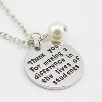 Wholesale Wholesale Nurse Gifts - 2015 new arrive Teacher's Necklace Teacher Appreciation Gifts Nurse Retirement Gift for Principal Necklace Christmas Gift