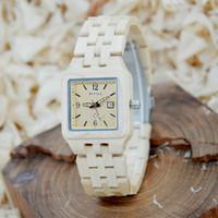 sehen sie die marke schön großhandel-Luxus 130A Marke Uhren Holz Uhren Marke Schöne Leucht Armband Frau Designer Armbanduhren Kalender Auf Verkauf