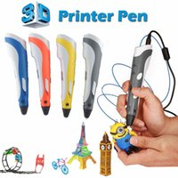 Wholesale Best Abs - New Creative 3D Printing Pens Intelligence Drawing 3D Pen with ABS Filament 3D Best Gift for Kids Printer Pens