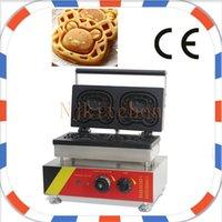 Wholesale Waffle Dog Maker - Free Shipping Commercial Use Non Stick 110v 220v 2pcs Digital Waffle Dog on A Stick Maker Machine