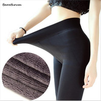 Wholesale Thick Knitted Pants - New Fashion Women's Autumn Winter High Elasticity And Good Quality Leggings Thick Velvet Pants Activity Free Shipping
