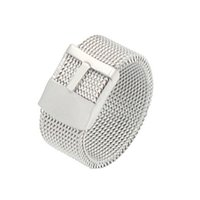 fio de aço 316l venda por atacado-Band strap anel de moda jóias acessórios venda quente do partido de casamento malha de arame de aço inoxidável 316L anel da moda