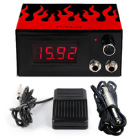 Wholesale Foot Jack - Solong Tattoo Professional Dual Connection Jack Tattoo Power Supply + Clip Cord+ Foot Pedal Free Shipping P174