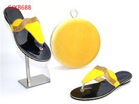 Wholesale Yellow Shoes Matching Bag - New African Shoes And Matching Bags Italian Women Shoes And Bags To Match Set Sale African Shoe And Bag Sets For Women