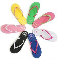 Wholesale Wholesale Pink Flip Flop - 7 Colors Girls Vs Pink Flip Flops Love Pink Sandals Pink Letter Beach Slippers Shoes Summer Soft Sandalias Beach Slippers CCA6078 100pair