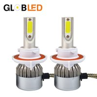 Wholesale H13 White - Car Led day light Headlight High Power Auto Hi lo H13 High Low 36WX2 White 6000K Bulb Repalcement Headlamp for toyota yaris
