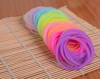 Wholesale Glitter Hair Ties - Night Glow Hair ties or Bracelet Silicone Elastic for kid girls durable rubber band glitter kid hair accessory pony tail holder
