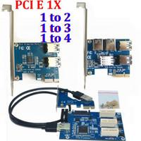 Wholesale laptop pcie for sale - PCI E to PCI express X slots Riser Card Mini ITX to external PCI E slot adapter PCIe Port Multiplier Card VER005