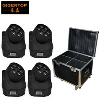 Flightcase 4XLot Small Bee-Eye Led Moving Head Light 6 * 15W O-S-R-A-M RGBW 4IN1 Farbmischung Mini Led Moving Beam Light TIPTOP