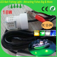 Wholesale Boat Led Fishing Lights - Wholesale- Today's Deals 18W 12V LED Green Underwater Fishing Light Lamp Fishing Boat Light Night Fishing Lure Lights for Attcating Fish