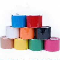 Wholesale Sports Tap - hot Kinesiology Sports Therapy Tape 5cmx5m Kinesio Tape Water Resistant Elastic Therapeutic Tape Muscle Therapeutic Kinesio Tap JF049